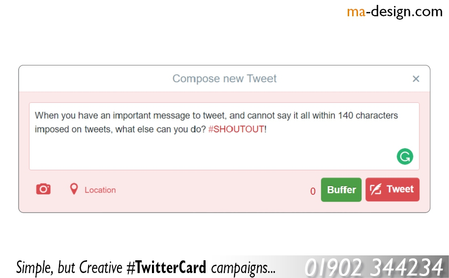 Our most recent twitter Card